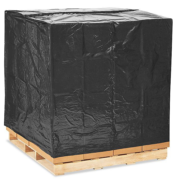 "48 x 46 x 72"" 2 Mil Black Pallet Covers S-13559"