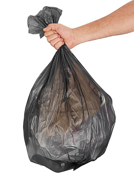 Uline Economy Trash Liners - Black, 12-16 Gallon, .31 Mil S-13566