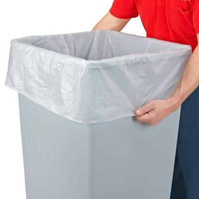 Uline Economy Coreless Trash Liners - .55 Mil, 40-45 Gallon, Clear