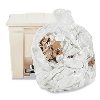 Uline Industrial Trash Liners - 12-16 Gallon, 1.5 Mil, Clear S-13572