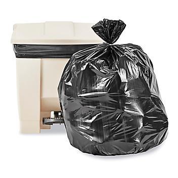 Uline Industrial Trash Liners - 12-16 Gallon, 1.2 Mil, Black S-13575