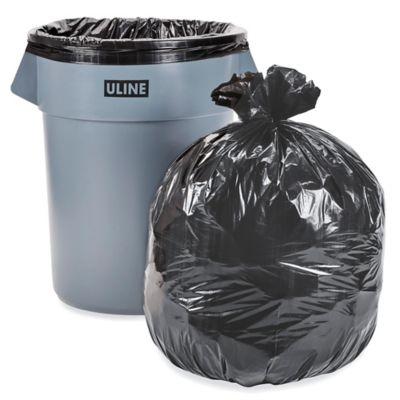 Uline Industrial Trash Liners - 55-60 Gallon, 1.5 Mil, Black