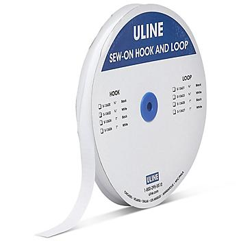 """Sew-on Strips - Hook, White, 3/4"""" x 75' S-13622"""