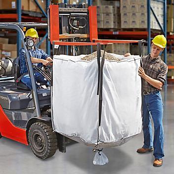 "Bulk Bags Skid Lot - Duffle Top, Spout Bottom, 35 x 35 x 40"" S-13642S"