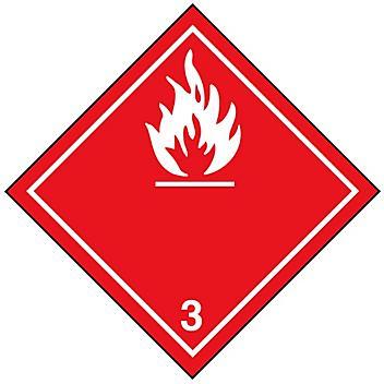 "International Labels - Flammable Liquid, 4 x 4"" S-13855"