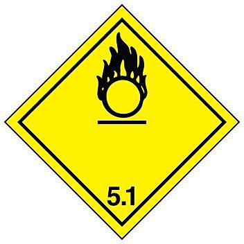 "International Labels - Oxidizing Substances, 4 x 4"" S-13859"