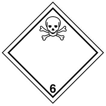 "International Labels - Toxic Substances, 4 x 4"" S-13861"