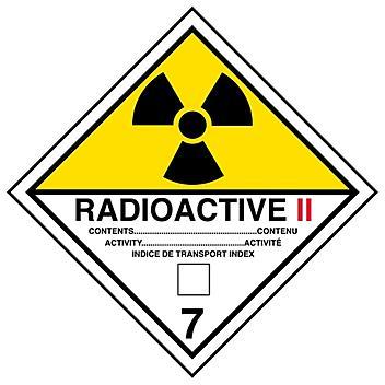"T.D.G. Labels - ""Radioactive II"", 4 x 4"" S-13864"