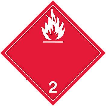 T.D.G. Placard - Flammable Gas