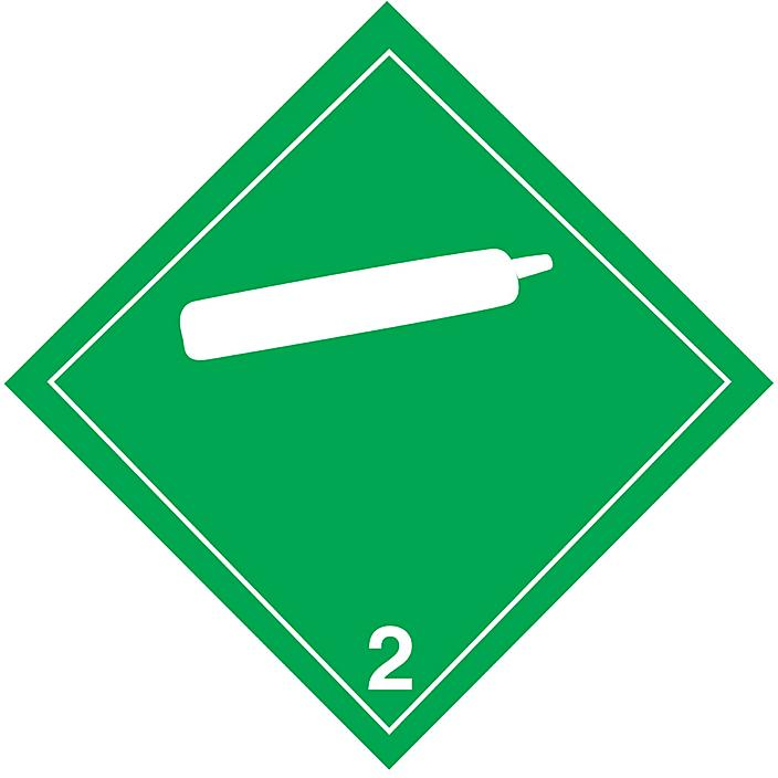 T.D.G. Placard - Non-Flammable Gas