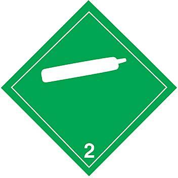 International Placard - Non-Flammable Gas, Adhesive Vinyl S-13911V