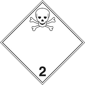 T.D.G. Placard - Toxic Gases