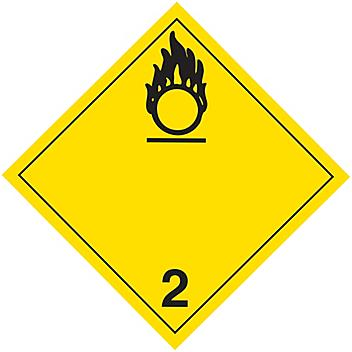 T.D.G. Placard - Oxidizing Gases