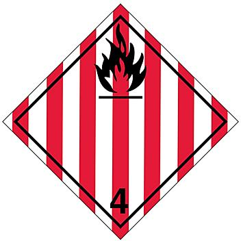 T.D.G. Placard - Flammable Solid, Tagboard S-13916T