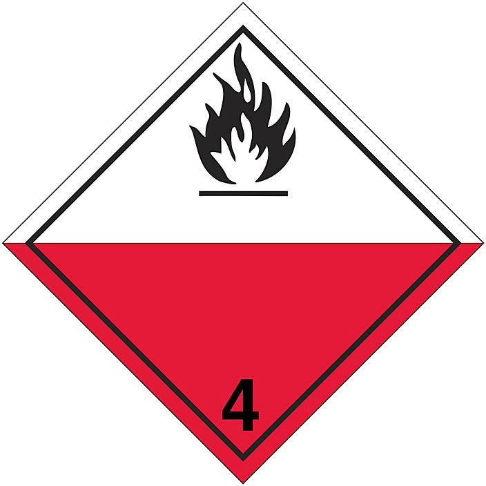 T.D.G. Placard - Spontaneously Combustible