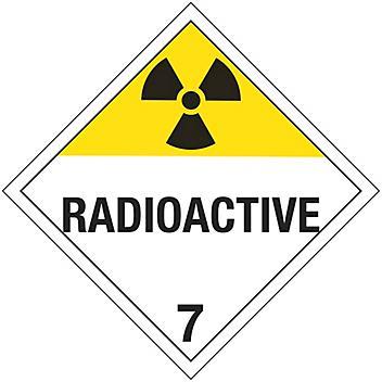 "International Placard - ""Radioactive"", Tagboard S-13921T"