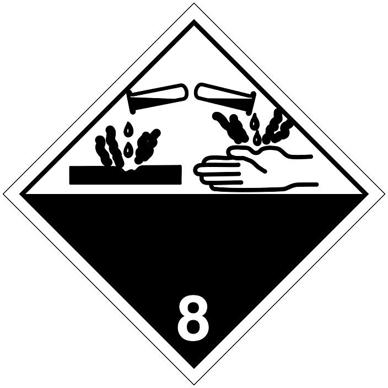 T.D.G. Placard - Corrosive