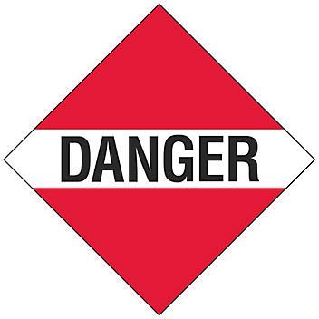 """T.D.G. Placard - """"Danger"""", Adhesive Vinyl S-13923V"""