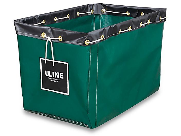 """Replacement Liner for Vinyl Basket Truck - 30 x 20 x 20 1/2"""", Green S-13928G"""