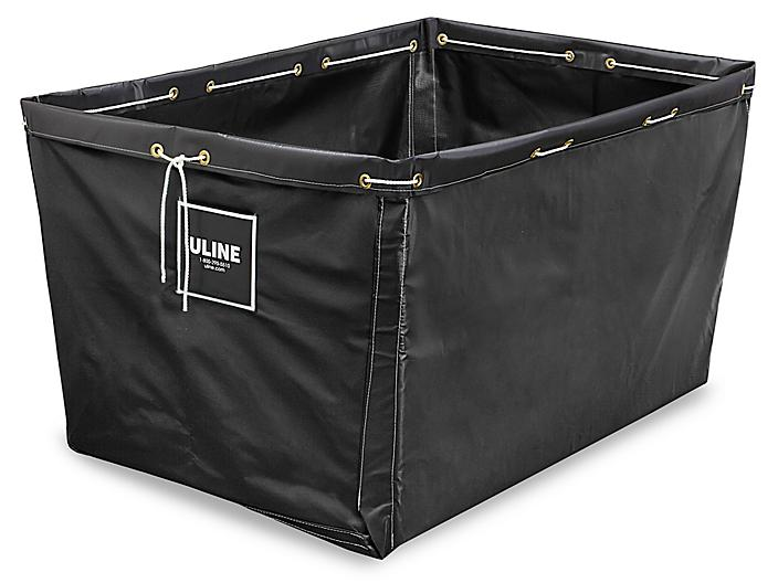 """Replacement Liner for Vinyl Basket Truck - 48 x 32 x 30"""", Black S-13931BL"""