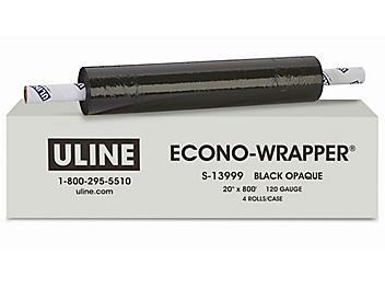 "Heavy Duty Econo-Wrapper® - Black Opaque, 120 gauge, 20"" x 800' S-13999"