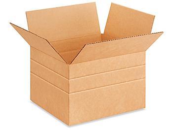 """12 x 10 x 8"""" Multi-Depth Corrugated Boxes S-15034"""