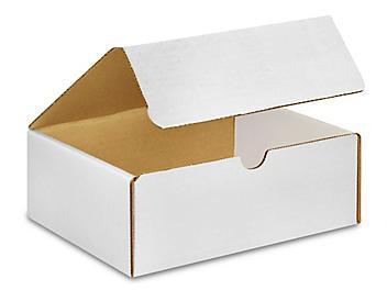 "8 x 7 x 3"" White Literature Mailers S-15139"