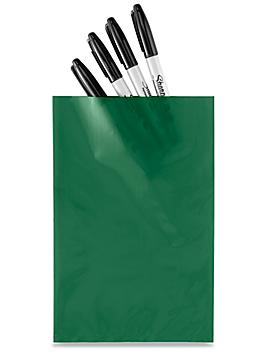 """6 x 9"""" 2 Mil Colored Poly Bags - Green S-15157G"""