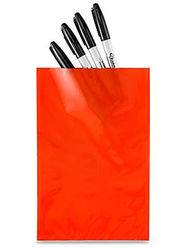 """6 x 9"""" 2 Mil Colored Poly Bags - Red S-15157R"""