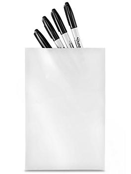 """6 x 9"""" 2 Mil Colored Poly Bags - White S-15157W"""