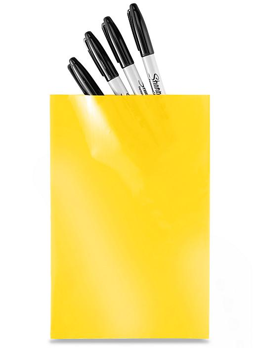 """6 x 9"""" 2 Mil Colored Poly Bags - Yellow S-15157Y"""