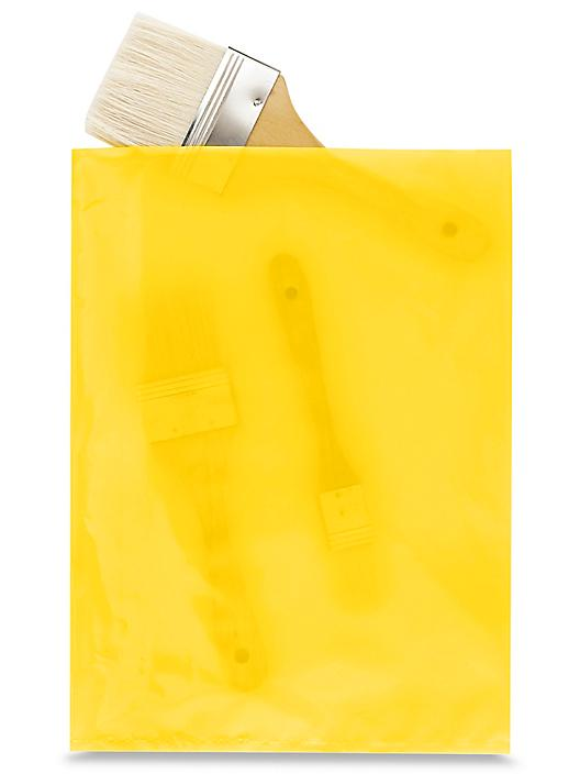 """9 x 12"""" 2 Mil Colored Poly Bags - Yellow S-15159Y"""