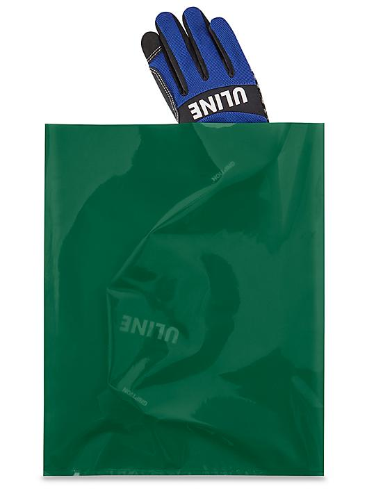 """12 x 15"""" 2 Mil Colored Poly Bags - Green S-15160G"""
