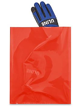 """12 x 15"""" 2 Mil Colored Poly Bags - Red S-15160R"""