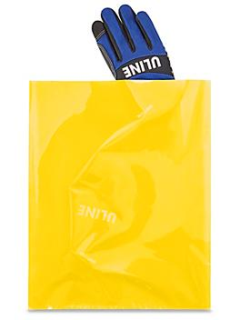 """12 x 15"""" 2 Mil Colored Poly Bags - Yellow S-15160Y"""