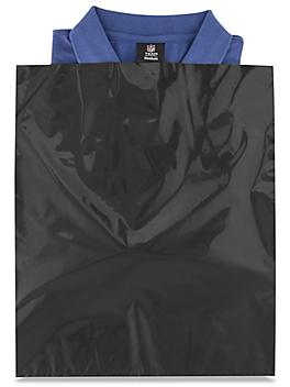 """15 x 18"""" 2 Mil Colored Poly Bags - Black S-15161BL"""