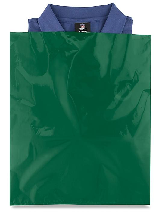 """15 x 18"""" 2 Mil Colored Poly Bags - Green S-15161G"""