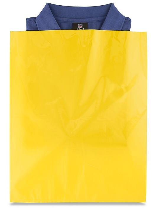 """15 x 18"""" 2 Mil Colored Poly Bags - Yellow S-15161Y"""