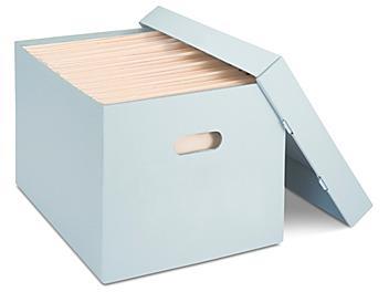 "Archival Storage File Boxes - 15 x 12 x 10"" S-15180"