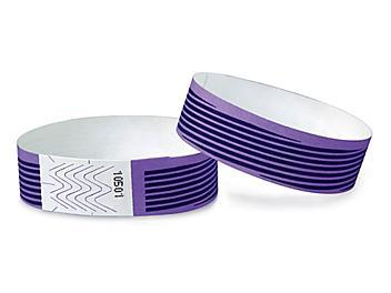Tyvek® Wristbands - Stripes, Purple S-15232PUR