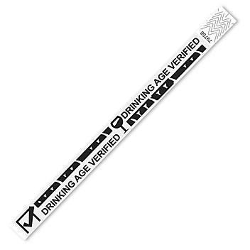 "Tyvek® Wristbands - ""Drinking Age Verified"", White S-15235W"
