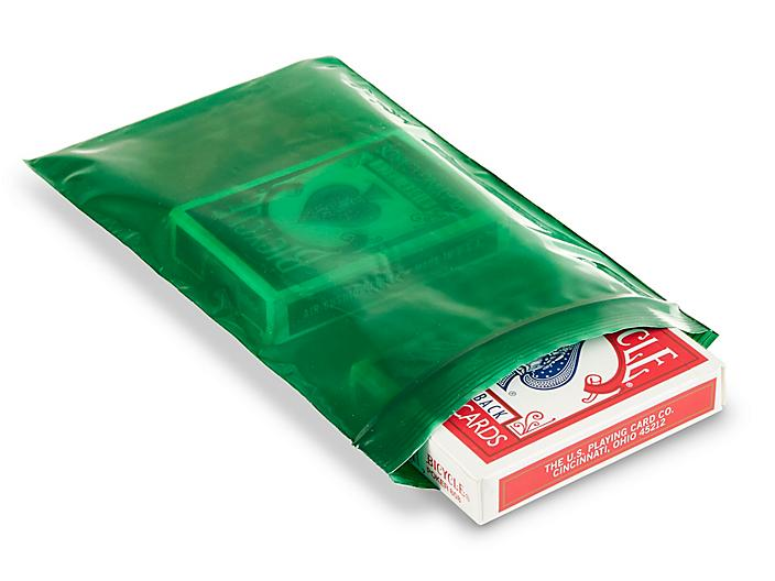 """5 x 8"""" 2 Mil Colored Reclosable Bags - Green S-15271G"""