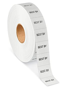 """Monarch 1136® Labels - """"BEST BY"""", White S-15300"""