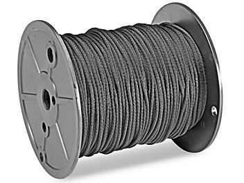 "Solid Braided Nylon Rope - 1/8"" x 500', Black S-15354"