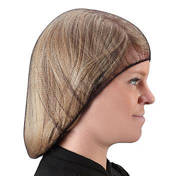 "Nylon Honeycomb Hairnets - 24"", Brown S-15372BR"