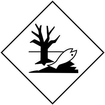 "D.O.T. Placard - Marine Pollutant, Adhesive Vinyl, 10 3/4 x 10 3/4"" S-15463"
