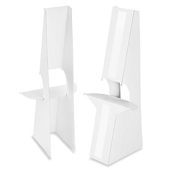 """Easel Backs - 12"""", Double Wing, White S-15488W"""