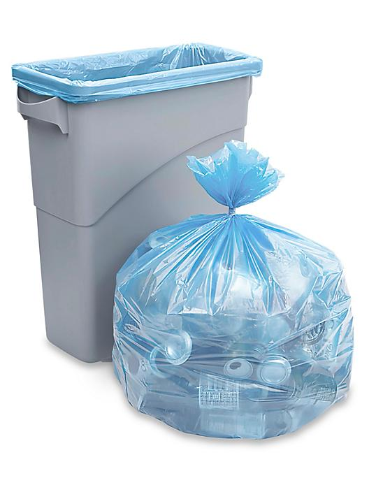 Blue Recycling Trash Liner - 20-30 Gallon S-15508