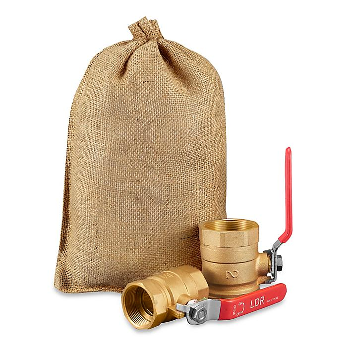 """Burlap Bags with Drawstring - 10 x 14"""" S-15526"""