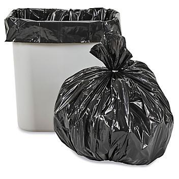 Uline Industrial Trash Liners - 6-7 Gallon, 1.5 Mil, Black S-15535